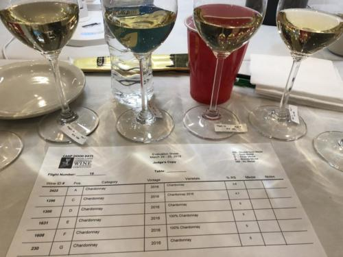 Tasting the different wines